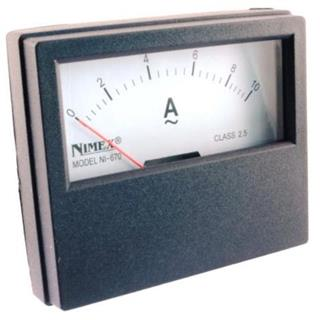 AMPERMETER PANEL 70x60mm 10A AC
