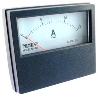 AMPERMETER PANEL 70x60mm 15A AC