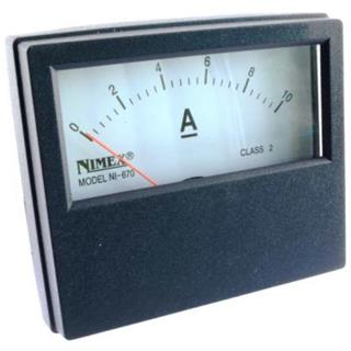 AMPERMETER PANEL 70x60mm 10A DC