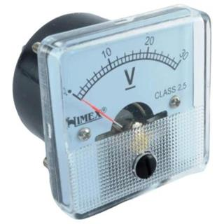 VOLTMETER PANEL 44x44mm 30VDC RAZR.2,5